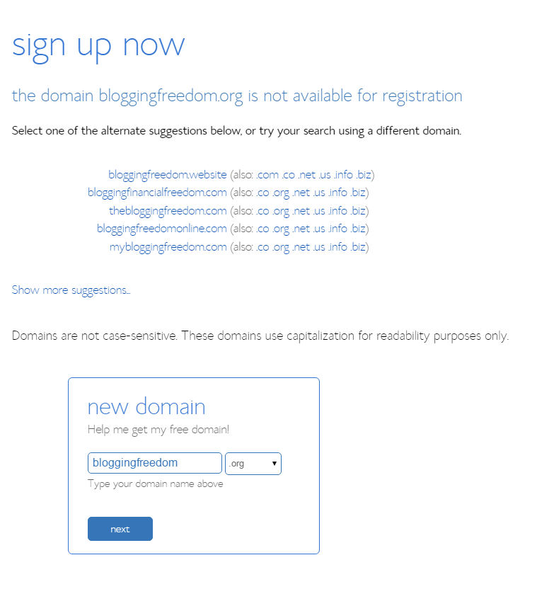 bluehost domain registration 2