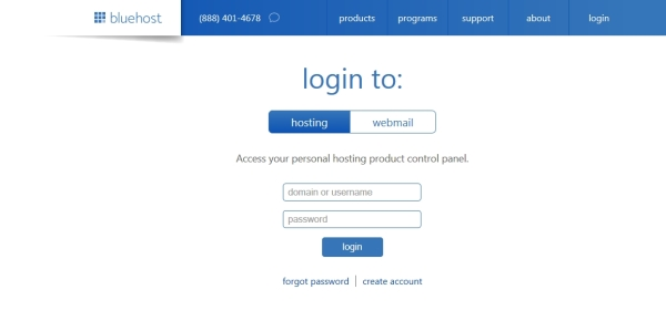 bluehost-login