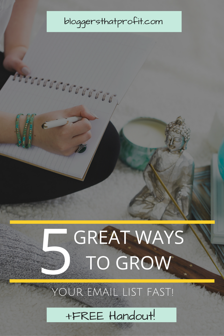 Need to grow your email list fast? Check out these 5 great ways!