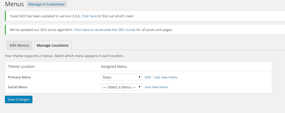 Add an additional menu to your WordPress blog.