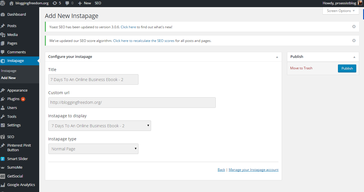 Instapage Plugin For WordPress