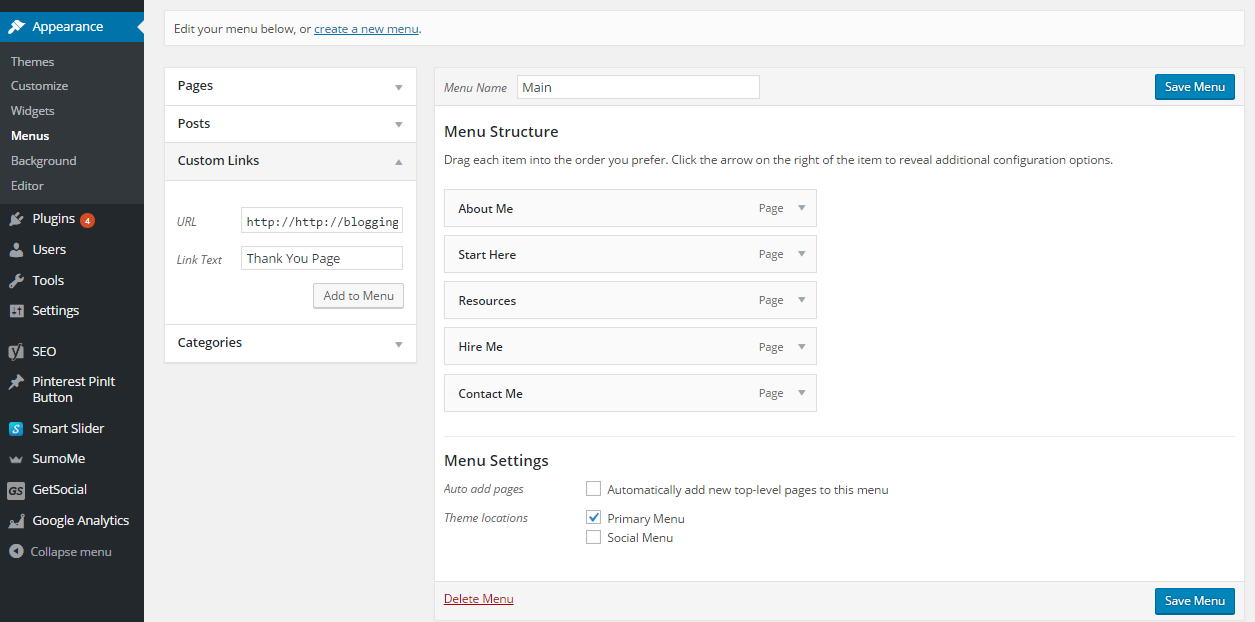 How to add a custom link to your WordPress menu