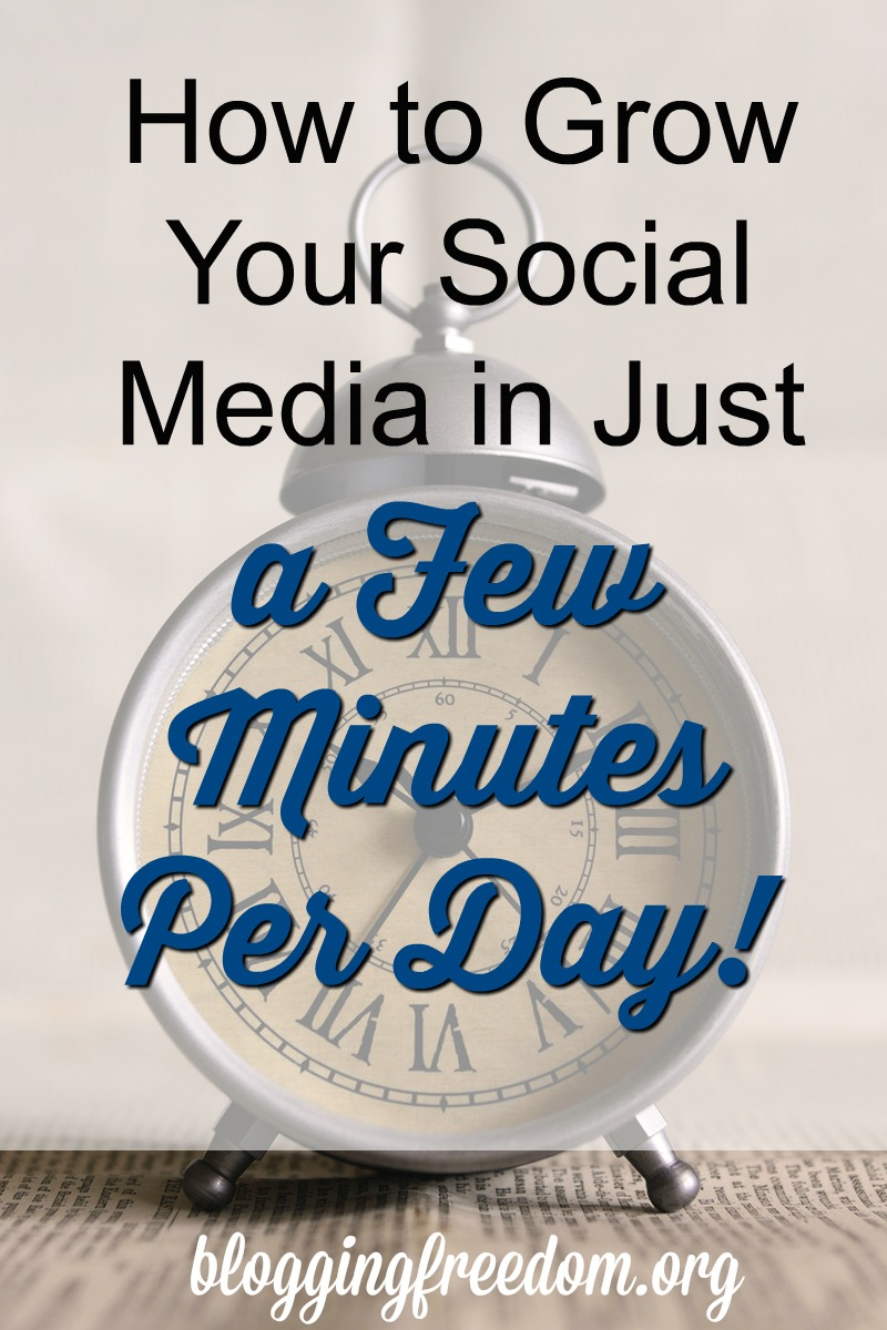 How to grow your social media in just a few minutes per day