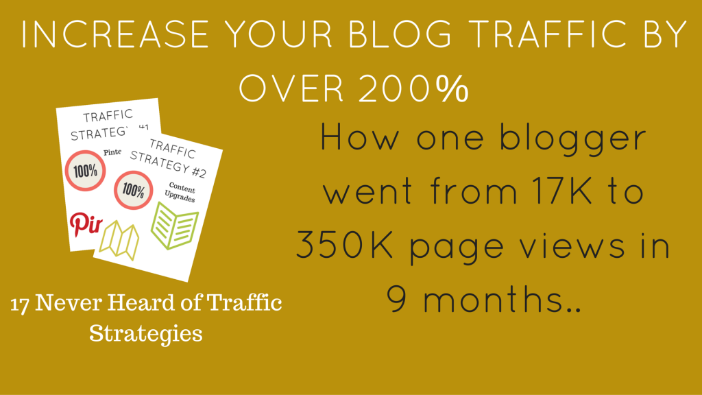INCREASE YOUR BLOG TRAFFIC BY OVER 200%