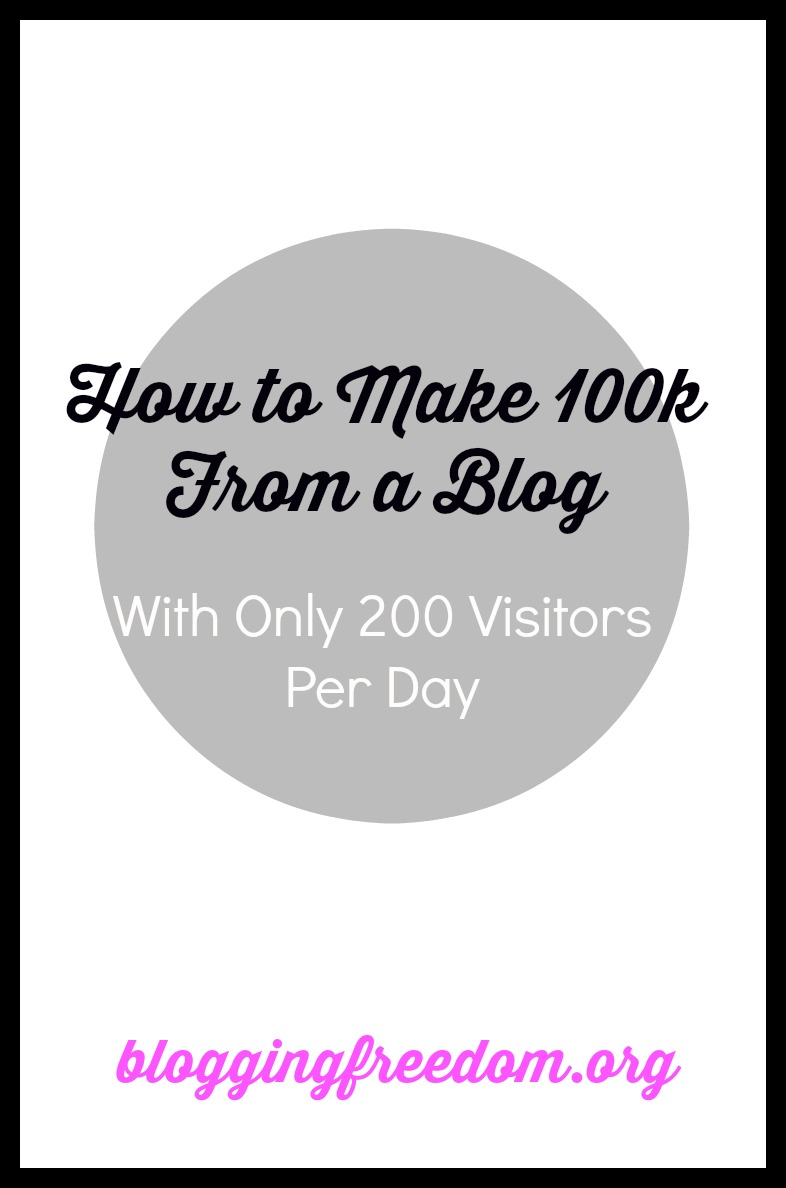Make a 100K from your blog with only 200 visitors per day!