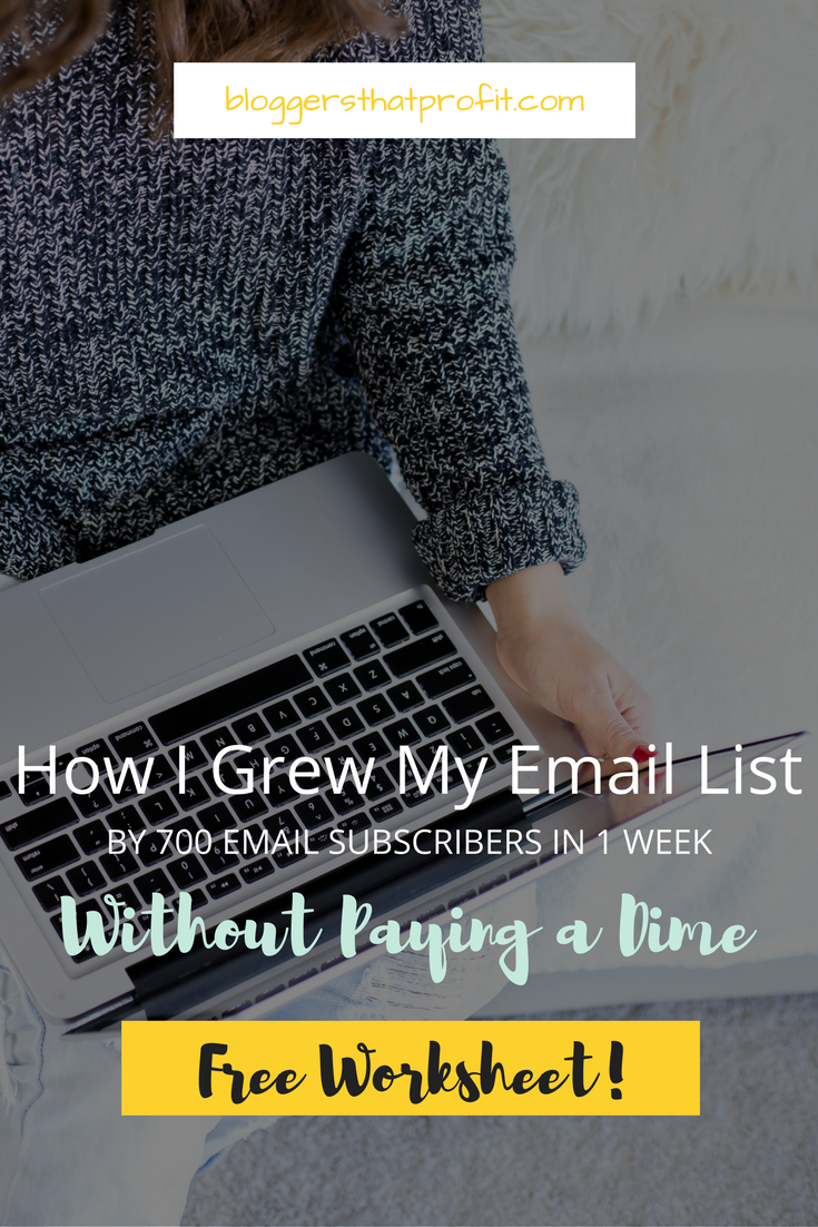 Want to grow your email list by 700 email subscribers? See how I did it in 1 week without paying a dime!