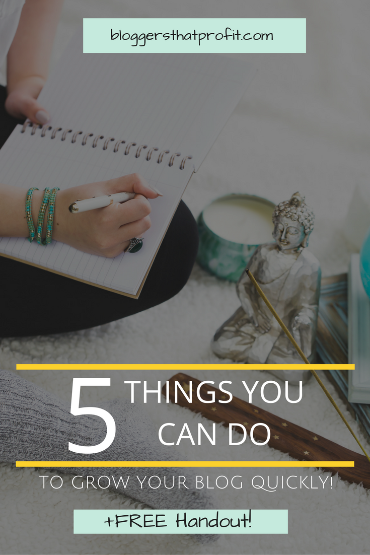 Are you stuck and want to grow your blog? These 5 things can help take your blog to the next level!