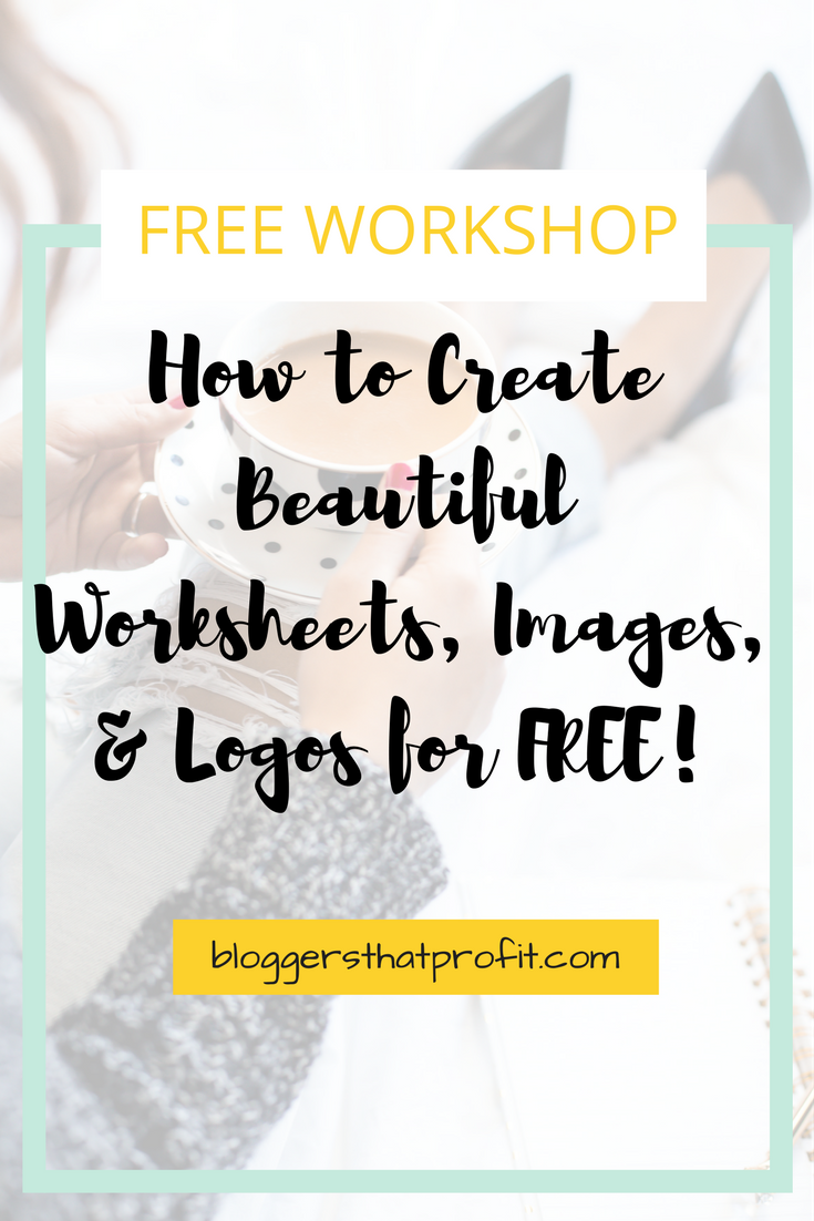 Learn how to create beautiful worksheets, images and logos for FREE!
