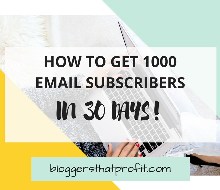 Do you struggle with getting your first 1000 email subscribers? Let me show you how to rapidly grow your list in 30 days!